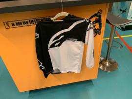 ALPINESTARS BMX Wedstrijd Shirt, Youth Medium, Zwart/Wit, Gloednieuw
