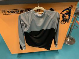 ZULU BMX Shirt, Youth XL, Zwart/Grijs, Gloednieuw