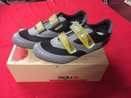 AGU CT012 SPD Raceschoenen, Maat 43, Grijs/Zwart/Geel, Gloednieuw in doos