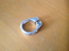 ATB Zadelpenklem Zilver geanodiseerd, 34,9mm