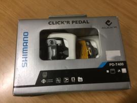 Shimano SPD PD-T400 CLICK'R Pedaalset, ATB, MTB, Tour, Trekking, Wit, Gloednieuw