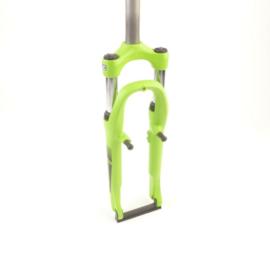 24 inch verende voorvork merk suntour groen met zwart