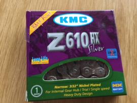 KMC  Z610 HX 3/32 Ketting, BMX, Zilver, Gloednieuw in verpakking