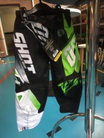 SHOT DEVO FAST BMX Cross Broek, Maat Youth 22, Zwart/Groen/Wit, Gloednieuw