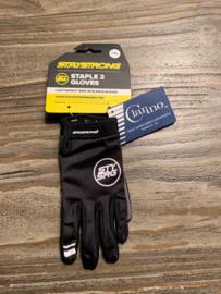 STAYSTRONG STAPLE II Fietscrosshandschoenen, Zwart/Grijs, Diverse Maten, Gloednieuw