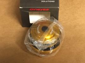 GINEYEA Tapered Adapter Headset, ATB & Race, Goud, Gloednieuw