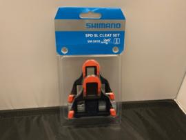 SHIMANO SM-SH10 SPD-SL RACE Schoenclips Rood/Zwart met schroefjes etc. Nieuw in verpakking