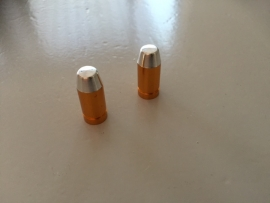 Kogel ventieldopjes, Zilver/Brons, 2 stuks(AV), Gloednieuw