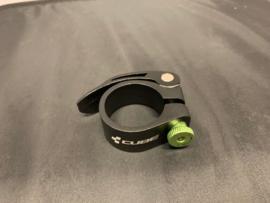 CUBE ATB Zadelpenklem, Zwart/Groen, 34,9mm, Gloednieuw