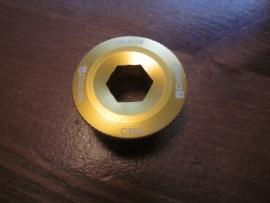 Crankschroef voor Hollowtech II cranksets, Goud geanodiseerd