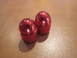 Geanodiseerd Rode ventielkapjes, 2 stuks, AV