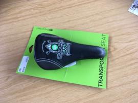 DK BMX Zadel, Zwart/Groen, Gloednieuw op kaart