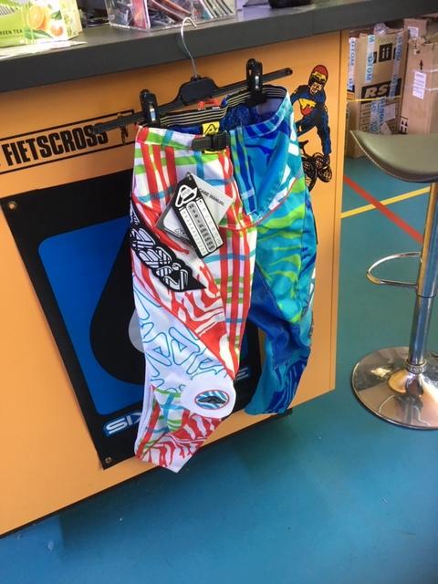 ACERBIS BMX Wedstrijd Broek, Blauw/Wit/Rood, Youth 28, Nieuw
