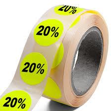 Stickers op papier