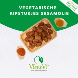 Vegan sesam oil chicken