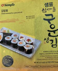 Sushi nori vellen geroosterd
