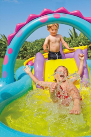 Zwembad met glijbaan - Dinoland