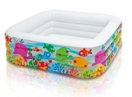 Kinderzwembad Vierkant - Aquarium