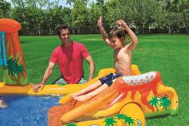 Zwembad met glijbaan - Dinosaurus