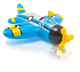 Opblaasbaar Vliegtuig - Blauw