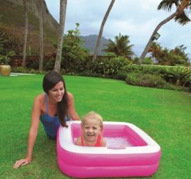Baby zwembad - Play Box Pool vierkant - Roze