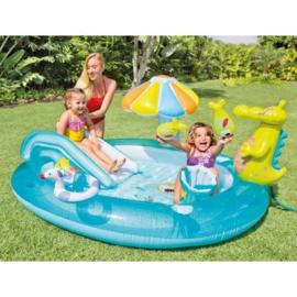 Zwembad met glijbaan - Krokodil