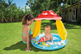 Baby zwembad - Paddenstoel met dakje