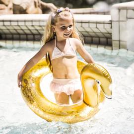 Zwemband - Gouden Zwaan Glitter