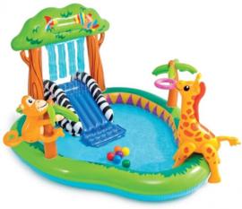 Zwembad met glijbaan - Jungle