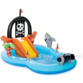 Zwembad met glijbaan - Piraat