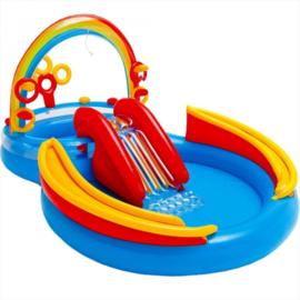 Zwembad met glijbaan - Regenboog