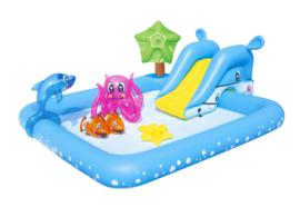 Zwembad met glijbaan - Zeedieren