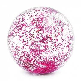 Glitter Strandbal - Roze