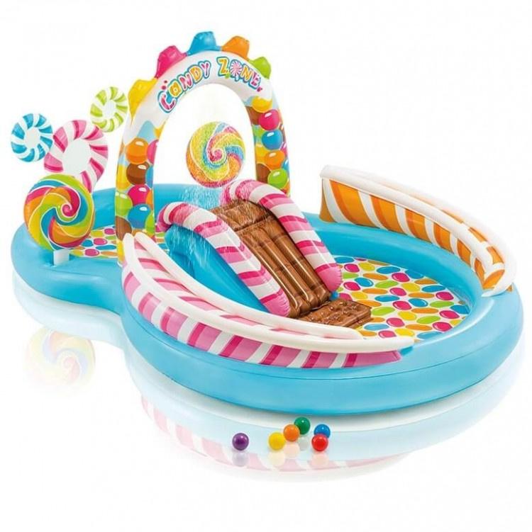 Zwembad met glijbaan - Snoep