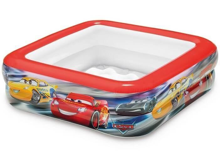Baby zwembad - Cars Play Box Pool vierkant