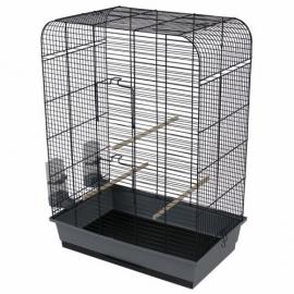 Vogelkooi nina zwart/grijs