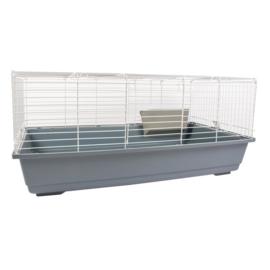 cavia/konijnenkooi 80cm  wit/grijs