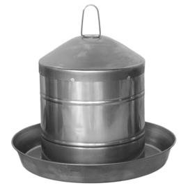 Drinkklok voor pluimvee roestvrij staal 5L - 24,5x24,5x35cm