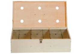 Transportkist voor vogel, hout gesloten 60/30/16 CM