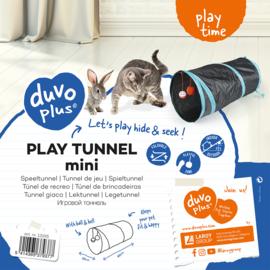 Speeltunnel mini Blauw/zwart 50x25cm