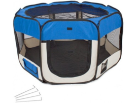 Puppyren Nylon Blauw - Diameter 125 cm - 61 cm hoog