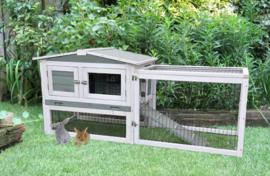 Woodland konijnenhok lambert  met ren cottage