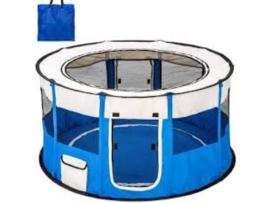Puppyren Nylon Blauw - Diameter 120 cm - 6o cm hoog