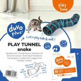 Speeltunnel snake Blauw/zwart 122x25cm