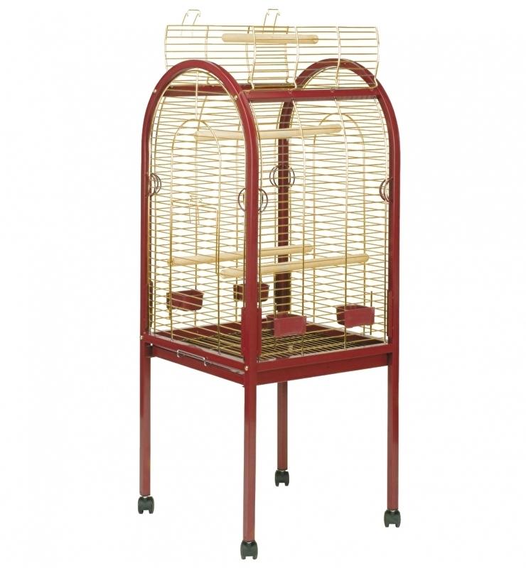 Junior papegaaikooi goud Bordeaux 55x55x130CM