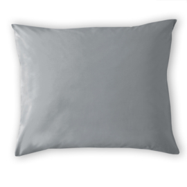 Damai Organic, 2 x kussensloop Grey, katoensatijn