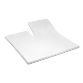 Damai Organic, White, topcover tot 15 cm met split, katoensatijn