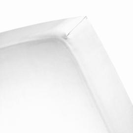 Damai Organic, hoeslaken White, katoensatijn, standaardmaat (tot 30 cm matrasdikte)
