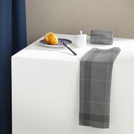 6 x keukendoek Morvan Grey biokatoen