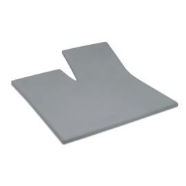 Damai Organic, Grey, topcover tot 15 cm met split, katoensatijn